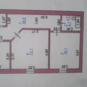 Продается 2хкомн в новом доме в центре города